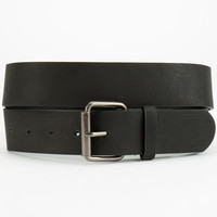 Basic Faux Leather Belt Black  In Sizes