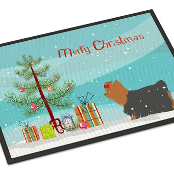 Yorkshire Terrier Yorkie Christmas Indoor or Outdoor Mat 24x36 BB2952JMAT