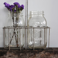 Vintage Wire Bottle Carrier