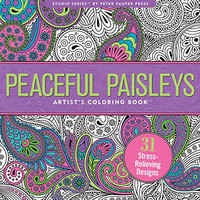 Peaceful Paisleys Adult Coloring Book (31 stress-relieving designs)
