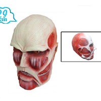 "Attack on Titan: ""Cosplay - Colossal Titan Mask (Rubber) 30cm"" : TokyoToys.com: UK Based e-store, Anime Toys Retail, Manga Action Figures, Japanese Snacks, Pocky, DVDs, Gashapon, Cosplay, Monkey Shirt, Final Fantasy, Bleach, Naruto, Death Note, Wall Scroll"
