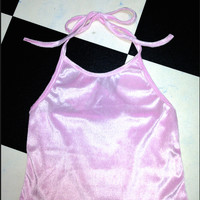 SWEET LORD O'MIGHTY! VELVET HALTER IN BABYPINK