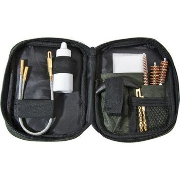 Pistol Cleaning Kit with Flexible Rod & Pouch
