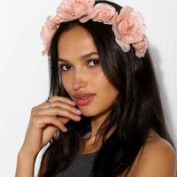 Roses Flower Crown Tie-Back Headwrap- Neutral One