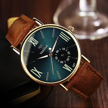 2017 Fashion Leisure Men Watch: Luminous