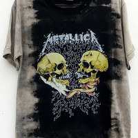Vintage Metallica I'm Inside You PusHead Tie Dye T-Shirt Bleached Tie Dye Tee Shirt, Music Shirt