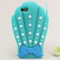 Blue 3D Mermaid SHELL PHONE 3D Case For iPhone