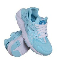 Nike Kid's Huarache Run Print GS, COPA/WHITE-BLUE LAGOON