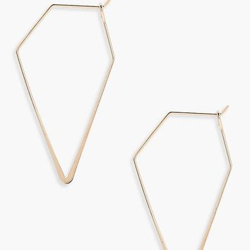Mia Pentagon Hoop Earrings | Boohoo