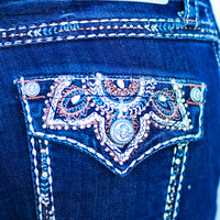GRACE IN L.A. MOROCCO BOOTCUT JEANS