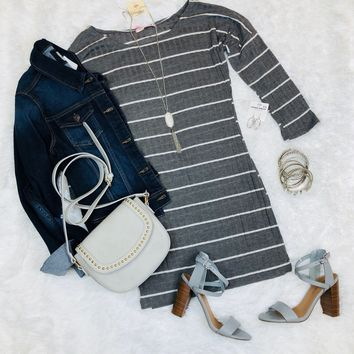 Casual Love Striped Tunic