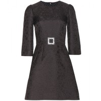 dolce & gabbana - jacquard cotton and silk-blend dress