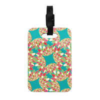"Miranda Mol ""Wings"" Green Teal Decorative Luggage Tag"