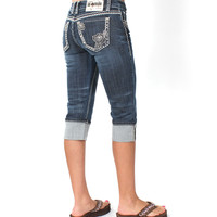 LA Idol® Ladies' Capri Jeans