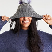 AEO Pom Donegal Beanie , Charcoal