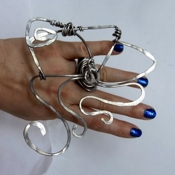 Huge ring shop , big statement art design, wire wrapped jewelry , unique original design , all handmade artisan jewelry , high fashion