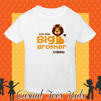 Pregnancy Announcement Tshirt - I'm the Big Brother Toddler Tee or Baby Bodysuit