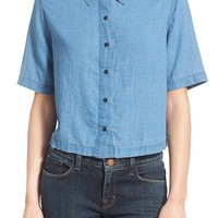J Brand Ready-To-Wear 'Janet' Cotton & Silk Shirt | Nordstrom