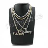 "ICED OUT BUBBLE CULTURE BUBBLE PENDANT W/ 24"" ROPE /18"" TENNIS CHAIN SC003"