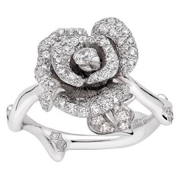 ROSE DIOR BAGATELLE Ring in 18k white gold and diamonds