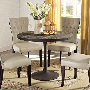 Drive Wood Round Dining Table