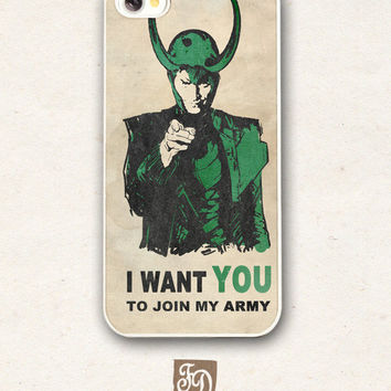 Iphone 5 hard case LOKI's ARMY , the Avengers, Thor
