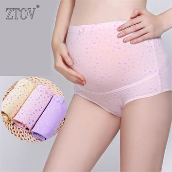 ZTOV 3PCS Lot Cotton Maternity Panties High waist Briefs underwear for Pregnant Women Pregnancy Intimates panties Clothing