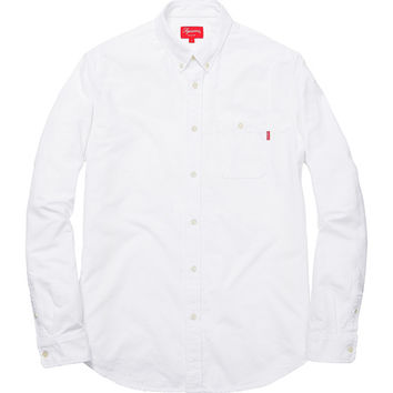 Supreme: Utility Flannel Shirt - White
