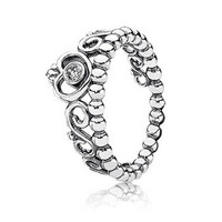 Authentic 925 Sterling Silver Ring With Cubic Zirconia Crown Ring Wedding Rings For Women Compatible With Pandora Jewelry