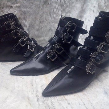 Bat Pikes Winklepickers boots Goth Gothic Batcave WGT Siouxsie 80s UNISEX bats