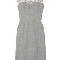 Rebecca Taylor Ruffled bustier-style crepe dress - 55% Off Now at THE OUTNET