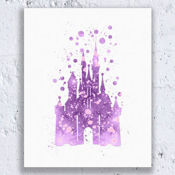 Cinderella Castle Disney Castle Print Cinderella Printable Disney Nursery Cinderella Art Cinderella Wall Art Digital Download Art