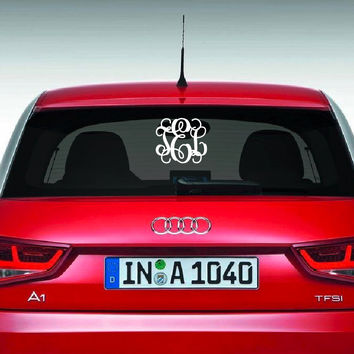 12 x 15 large car monogram choose font sticker custom car dec