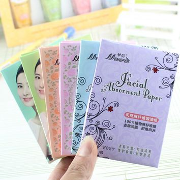 70Pcs Oil Absorbing Paper Oil Control Makeup Non-aborbent Water Blotting Sheets Random Color