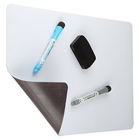 "Cinch! Magnetic Dry Erase White Board For Kitchen Fridge with Stain Resistant Technology 17x11"" - Includes 2 Markers and Big Eraser with Magnets"
