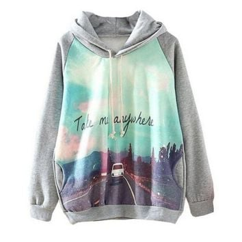 Take Me Anywhere Soft Women's Pullover Hoodies Sweatshirt