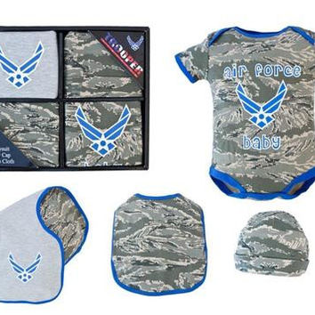 4 Pc Air Force Baby  Gift Box Set
