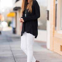 Right About Love Tunic, Black