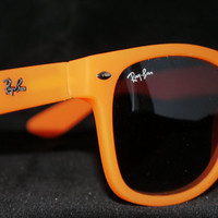 Rayban Wayfarer RB2140 Sunglasses Orange Ray ban from Sunglasses For All