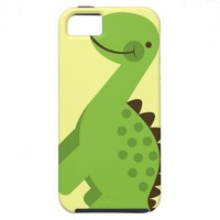 Cute Green Dinosaur iPhone 5 Case from Zazzle.com