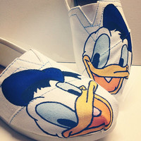 Disney Handpainted Toms - Donald Duck, Daisy Duck