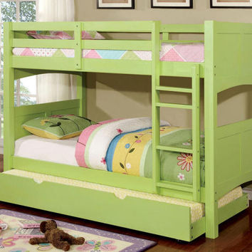 Agatha Apple Green Twin over Twin Bunk Bed
