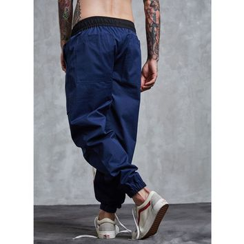 Men Casual Pants Men Tracksuit Trousers Pocket Sweatpants for Men Hip Hop Cargo Pants Swag Tide Pants