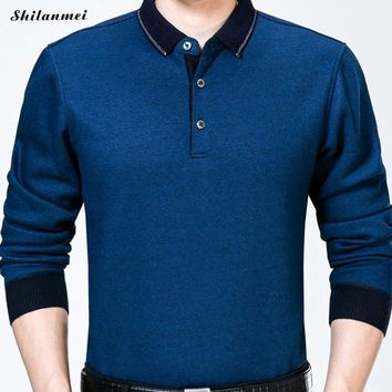 fashion cotton slim fit long sleeve t shirt men tee camisetas hombre plus size business men t shirt workwear v neck t shirt 3xl