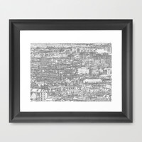 Leeds City Drawing Framed Art Print by Karl Wilson Photography