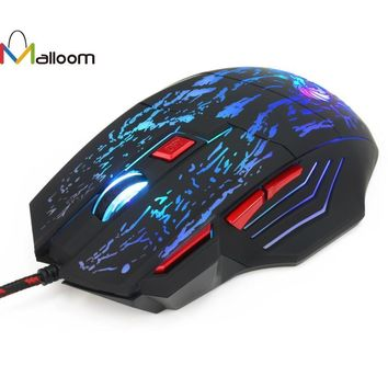 Malloom Newest Computer Mouse 2016 Hot Sale Professional 7 Buttons 5500DPI USB Optical Wired Gaming Mouse Mice For PC Laptop