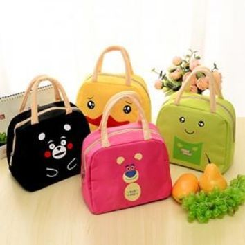 New Womens Thermal Insulated Cartoon Animal Lunch Bag Kids School Snack Lunch Bag Picnic Box