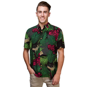 Tropical Deadpool Short Sleeve Shirt