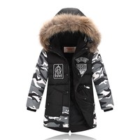 Kids Winter Coats Baby Boys Outerwear Down Jacket Boys Winter Coats Duck Down Boys Winter Parkas 2 3 4 5 6 7 8 9 10 years old