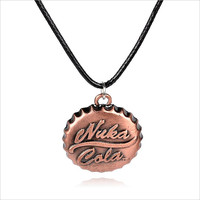 2016 New Hot !!! Fashion Fine Online Game Fallout 3 Jewelry Accessories Nuka Cola Drinks Necklaces & Pendants For Unisex N-444